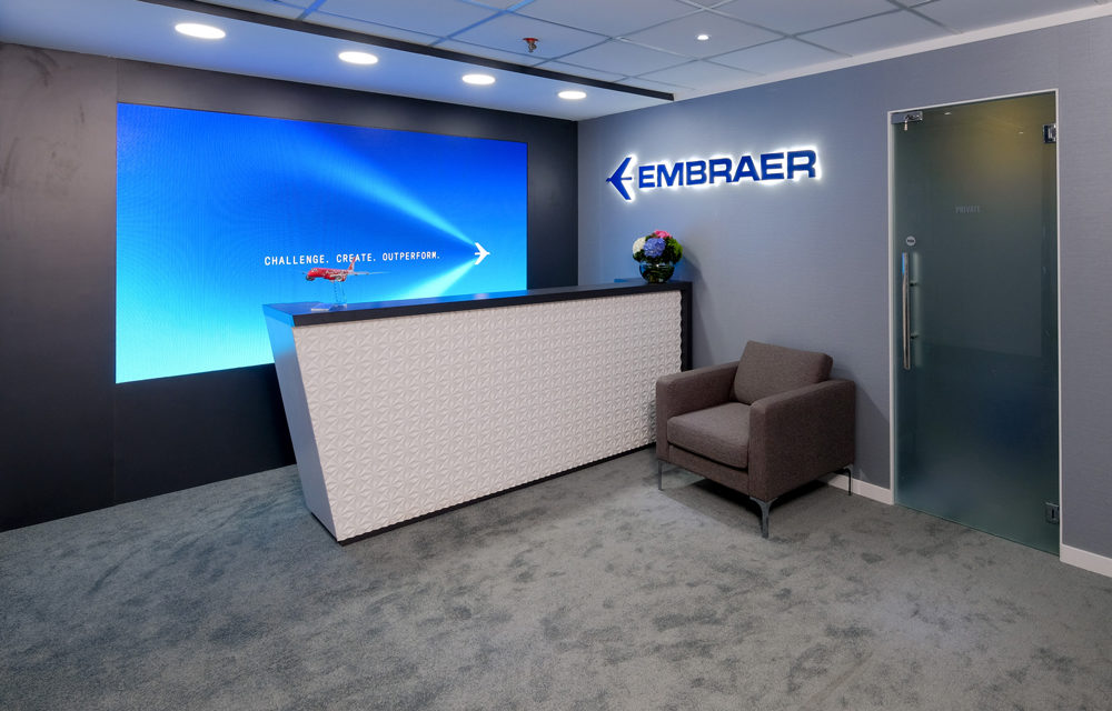 Embraer chalet LED walls innovation
