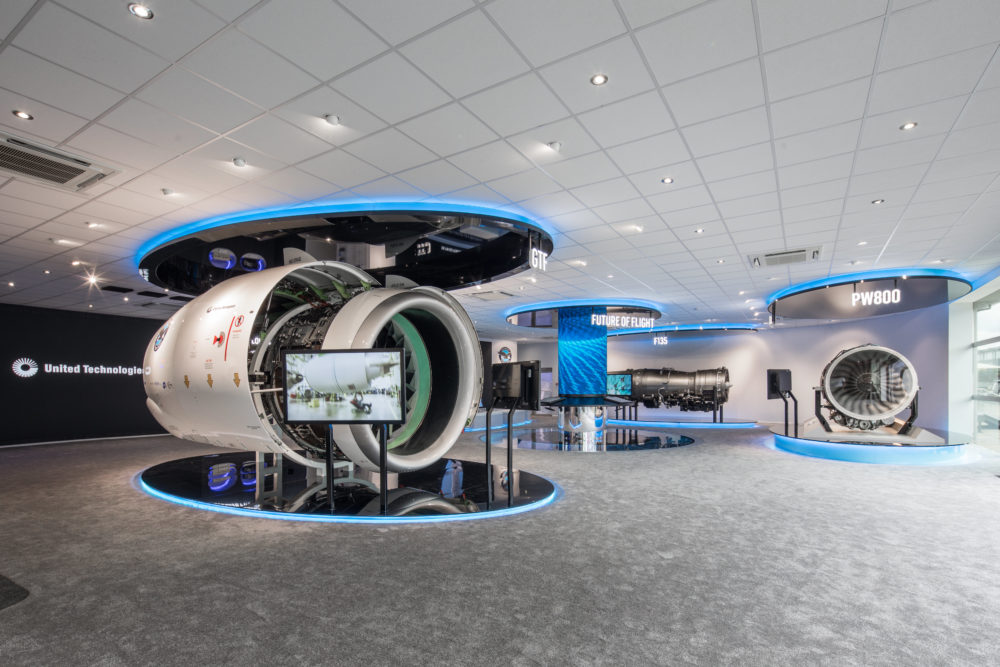 Pratt & Whitney engine displays at Paris air show