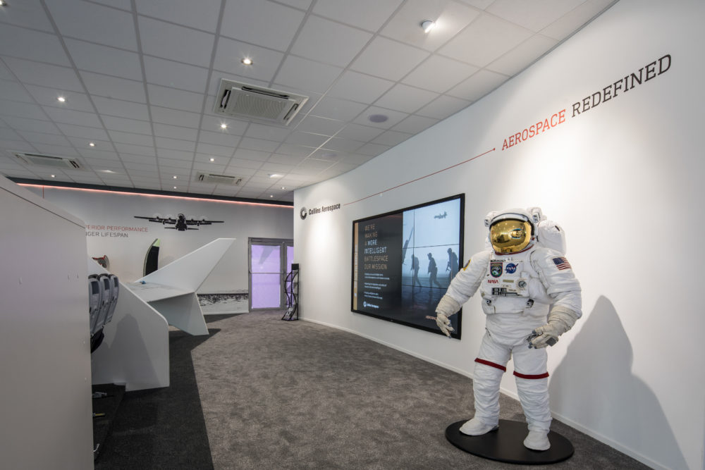 Collins Aerospace Pavillion spacesuit