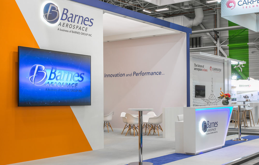 Barnes exhibition booth stand Paris air show