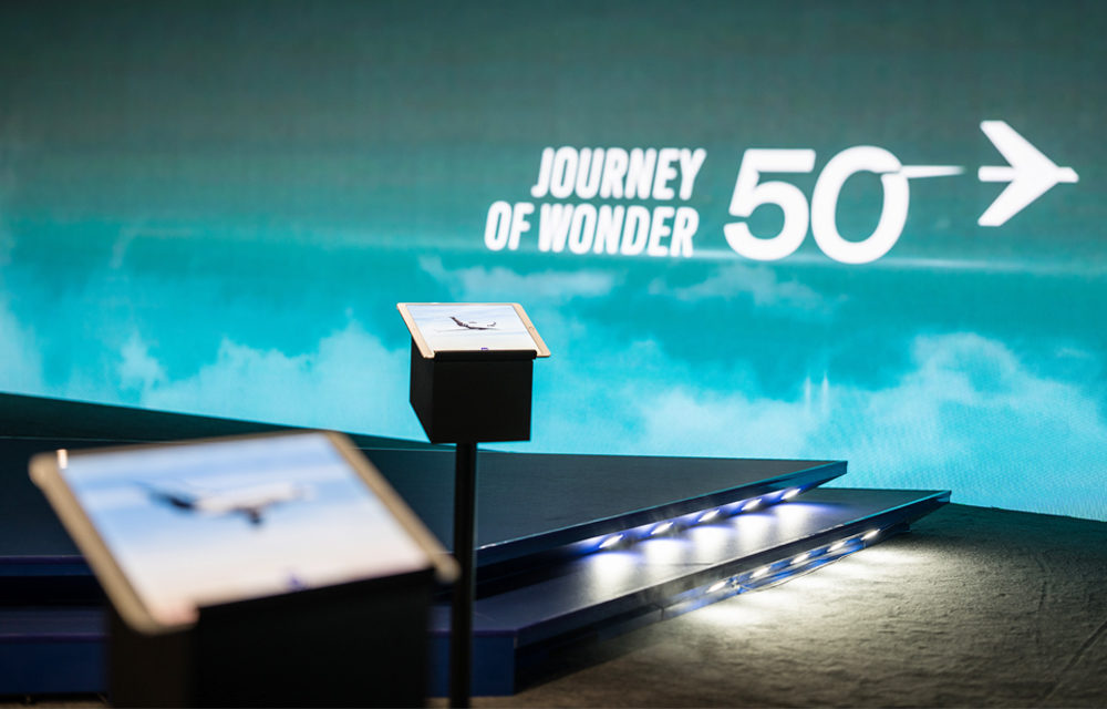 Embraer journey of wonder exhibition display