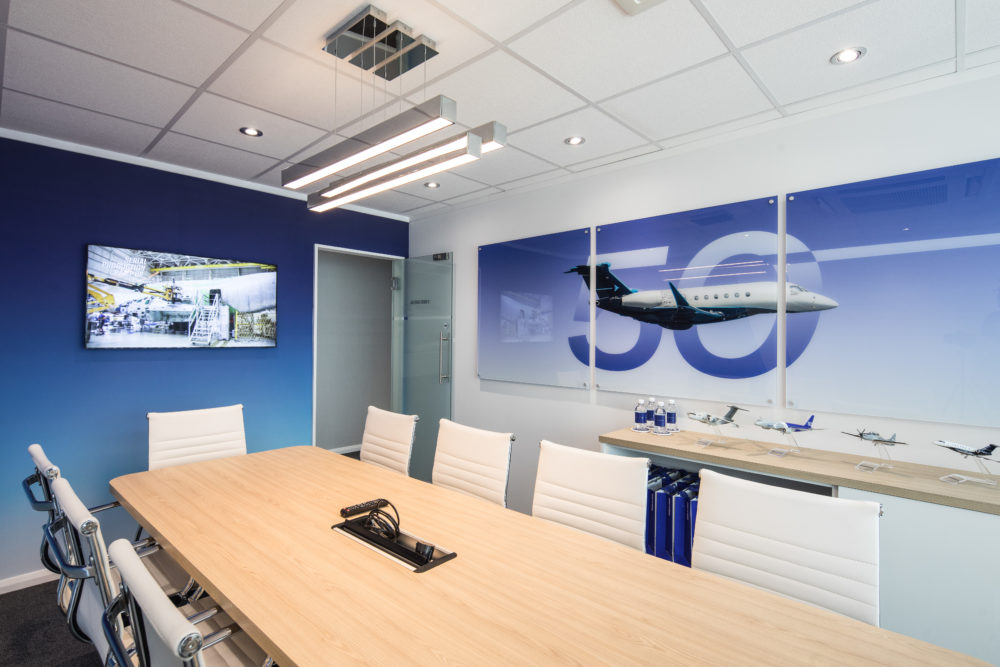 Embraer meeting room in chalet at Paris air show